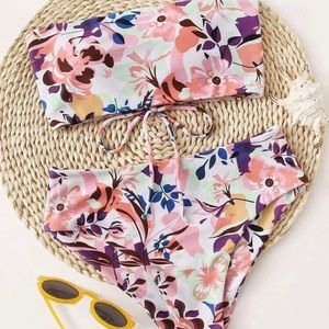 Shein brand new Bikini two piece flower